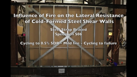 Cold-Formed Steel Shear Wall Structure-Fire Interaction (Specimen S06)