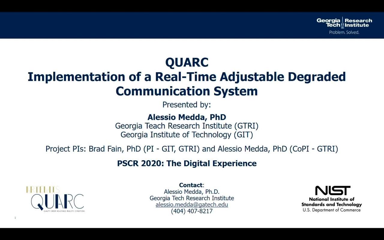 QUARC_On-Demand Session