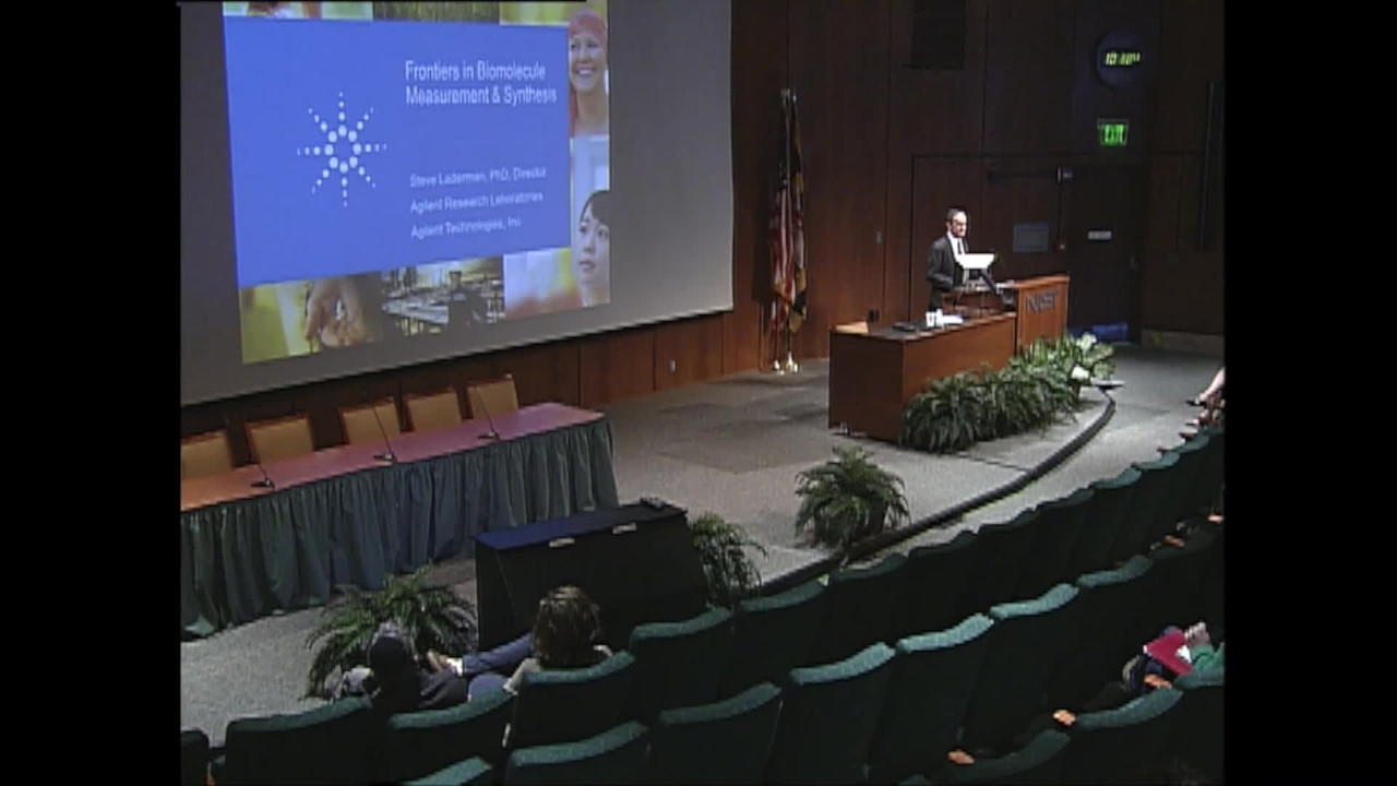 NIST Colloquium: Frontiers in Biomolecule Measurement and Synthesis, Stephen Laderman