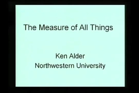 NIST Colloquium Series- The Measure of All Things