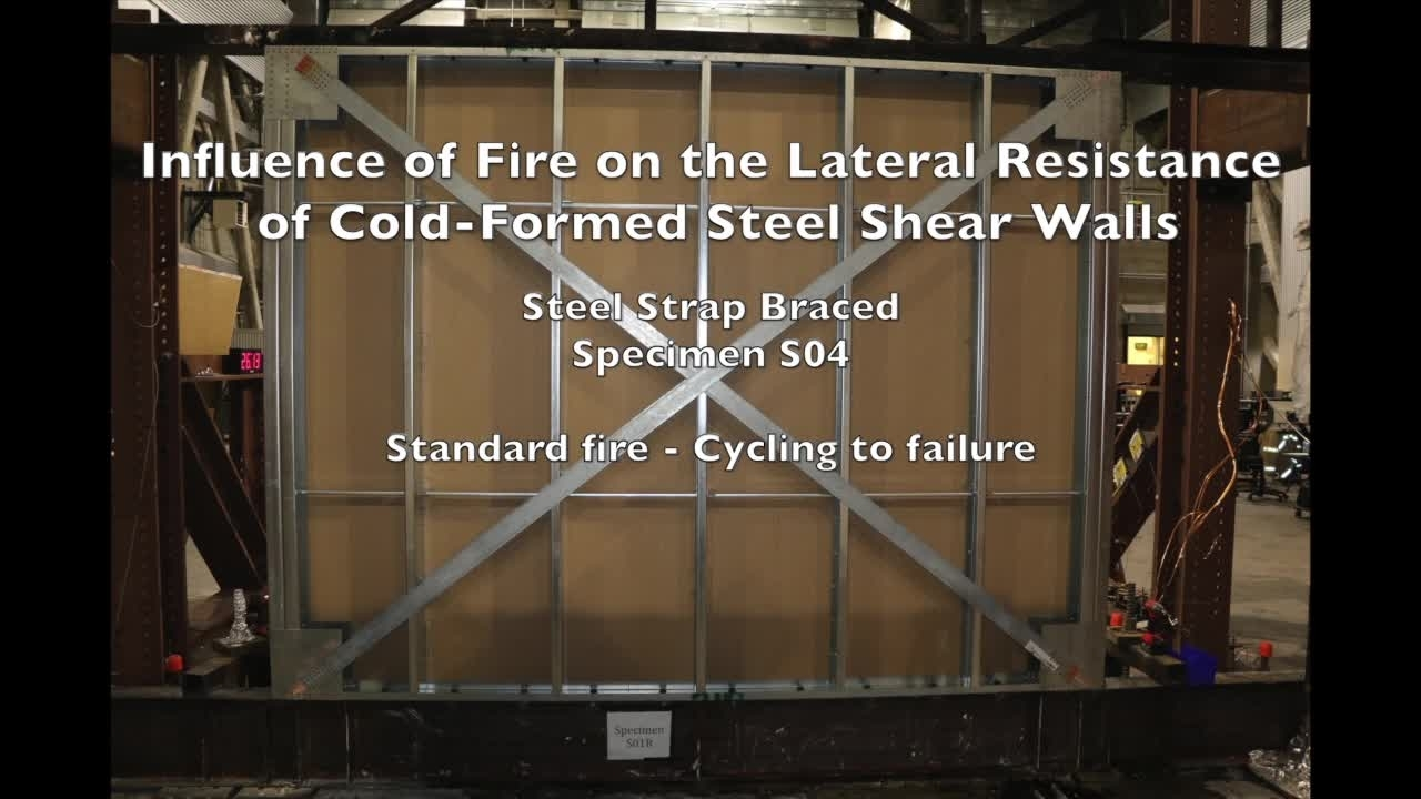 Cold-Formed Steel Shear Wall Structure-Fire Interaction (Specimen S04)