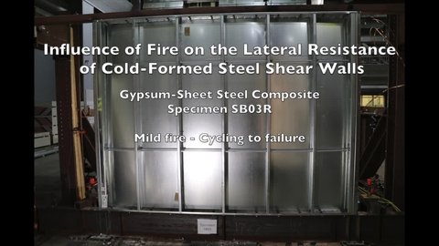 Cold-Formed Steel Shear Wall Structure-Fire Interaction (Specimen SB03R)