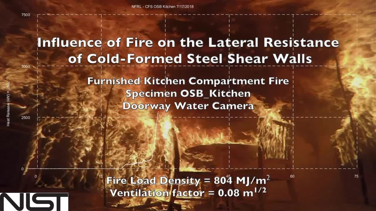 Cold-Formed Steel Shear Wall Structure-Fire Interaction (Kitchen doorway view)