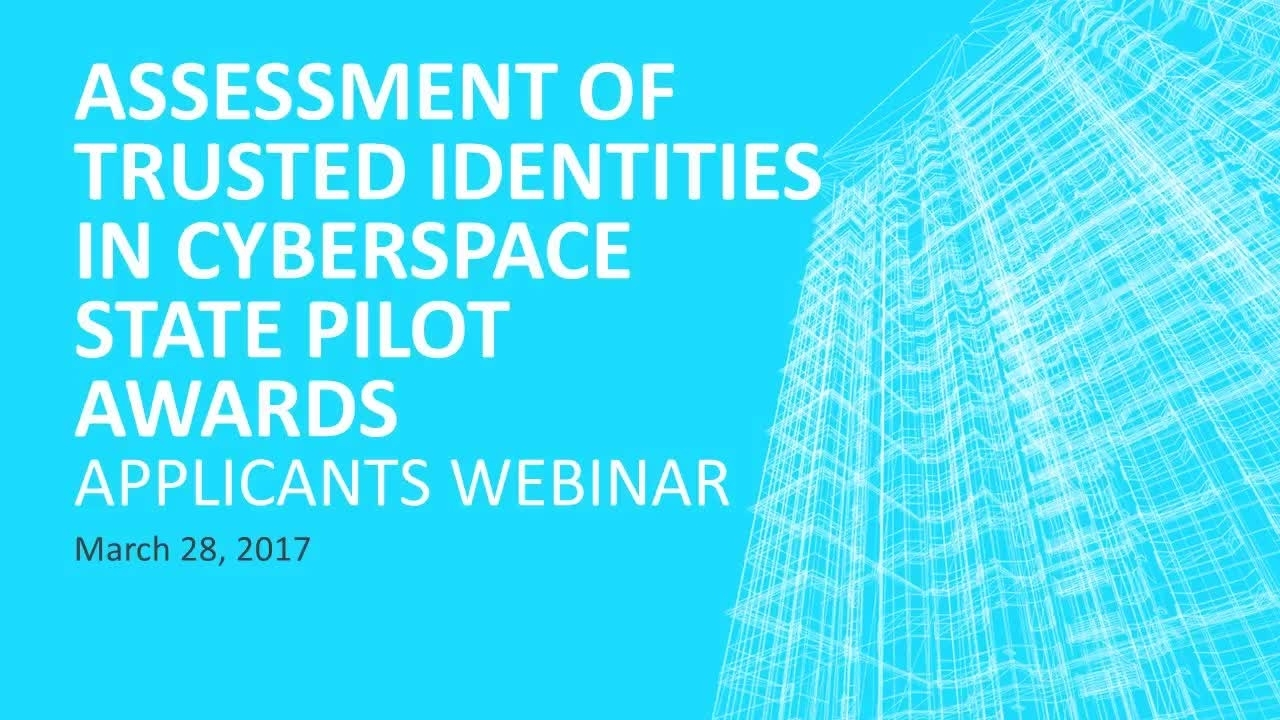 Applicants Webinar - New Funding Opportunity: Assessing the Benefits and Impacts of Five NIST State Pilots