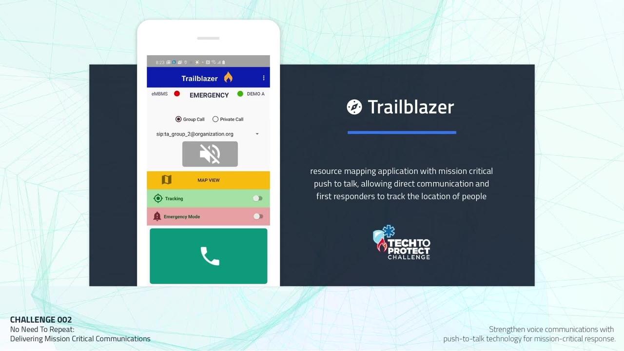 Tech to Protect Challenge - Trailblazer