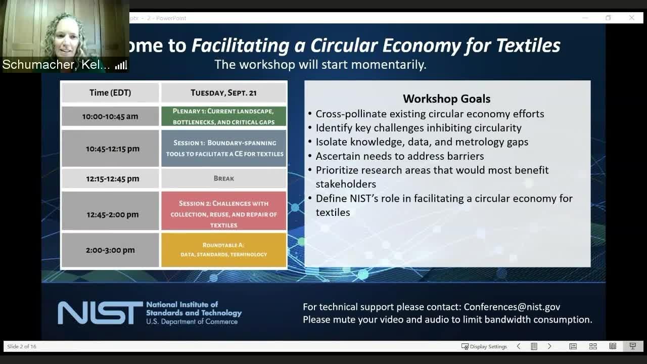 Facilitating a Circular Economy For Textiles Day 1 Part 1