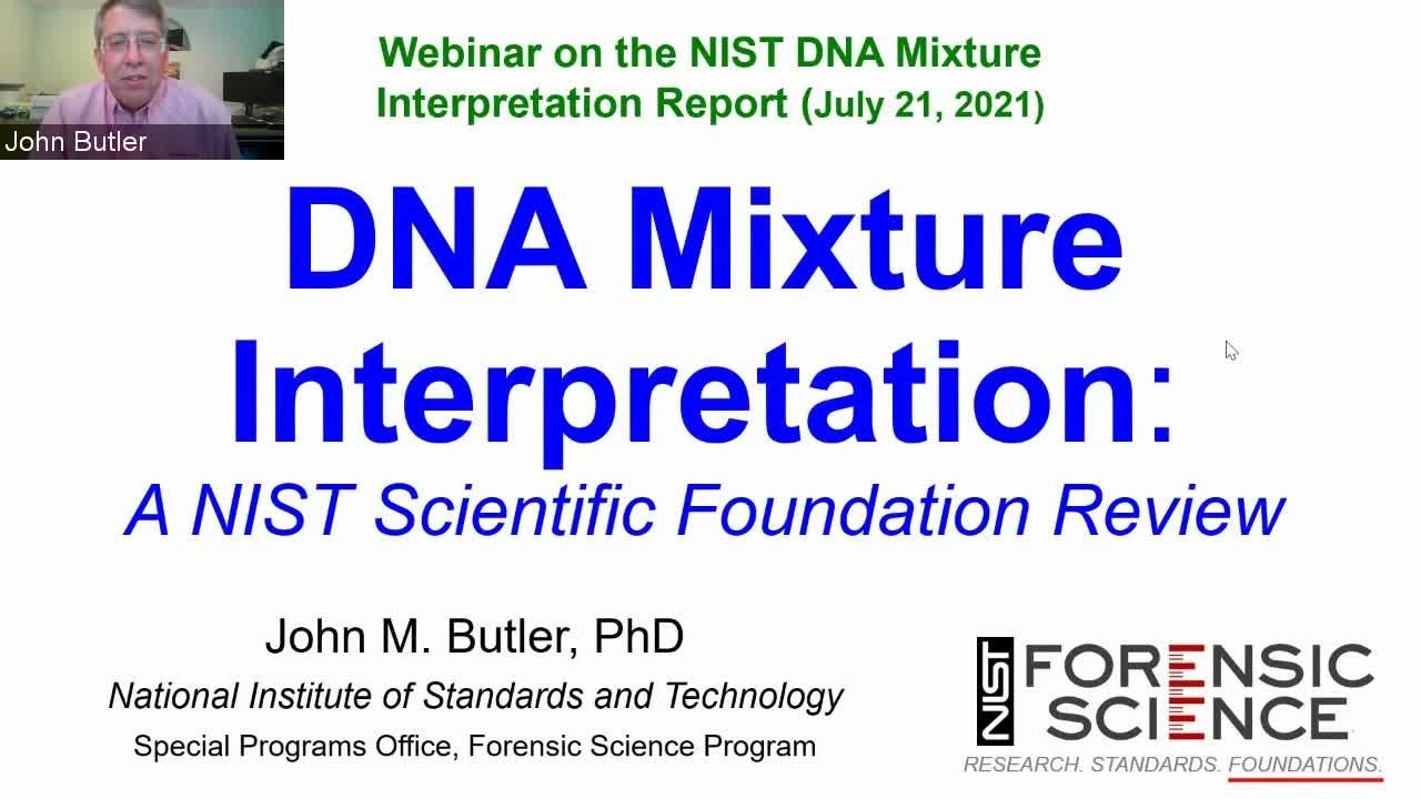 Public Comment Period for NIST Foundation Review on DNA Mixture Interpretation