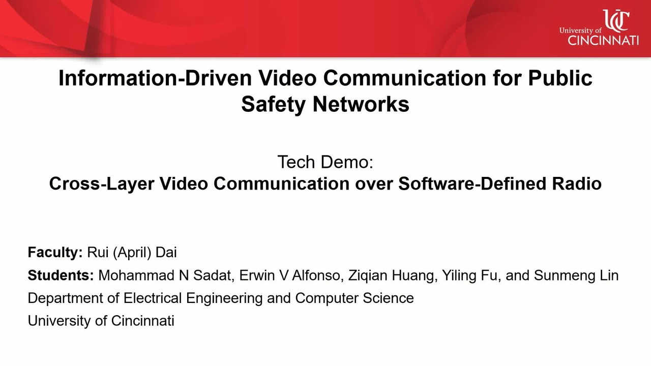PSCR 2021_Cross Layer Video Comm Over SDR_Tech Demo