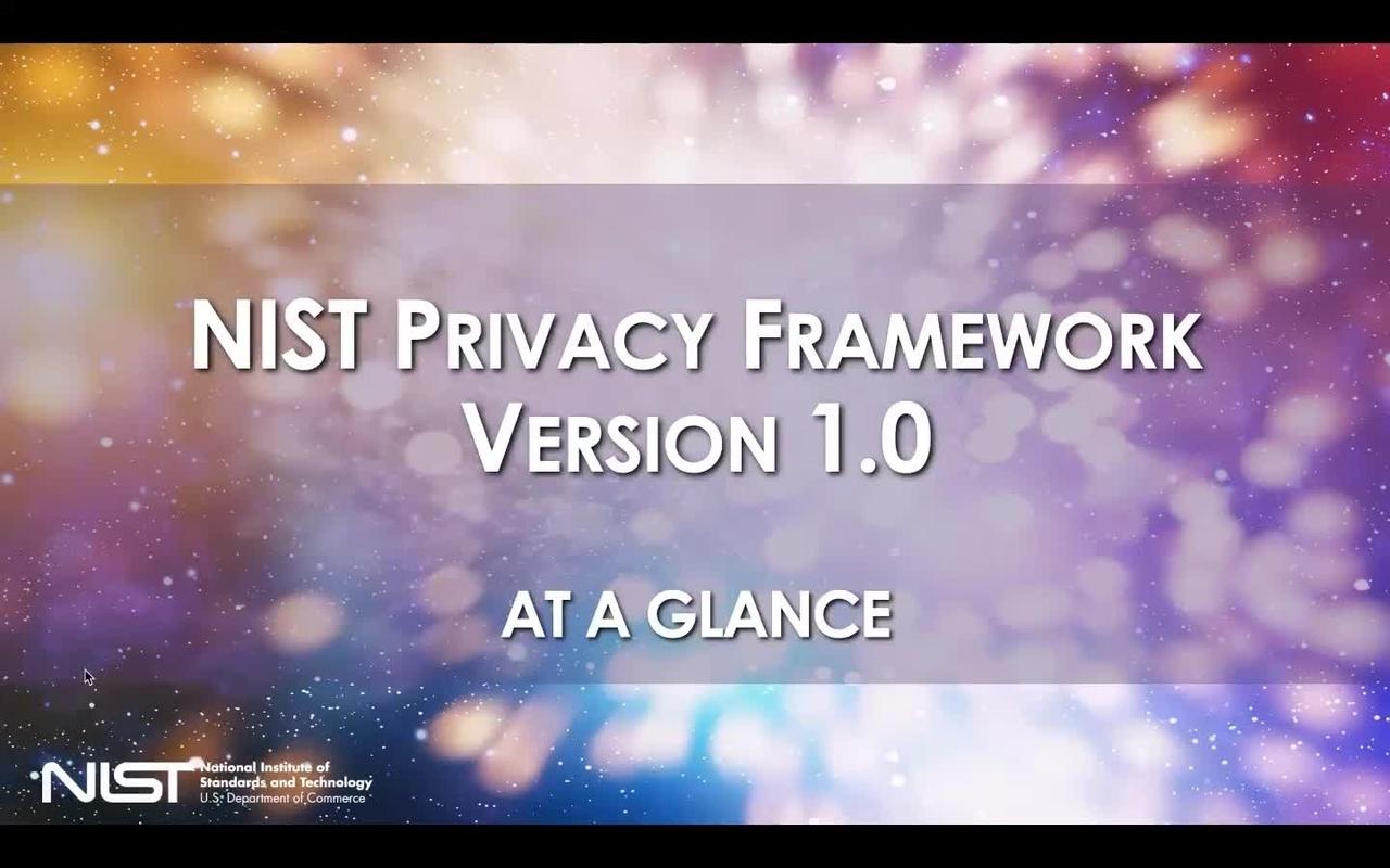Privacy Framework: At a Glance