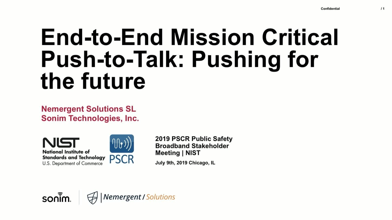 End-to-End Mission Critical Push-to-Talk