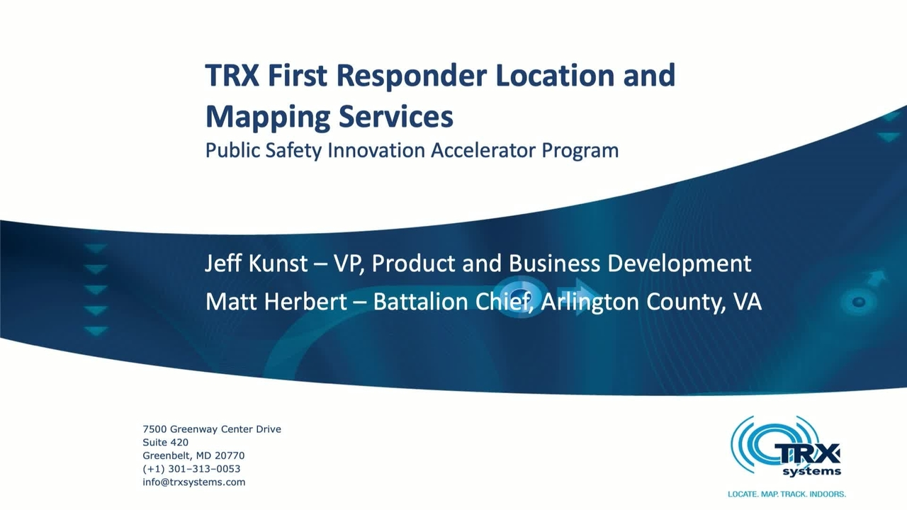 First Responder 3D Mapping_TRX
