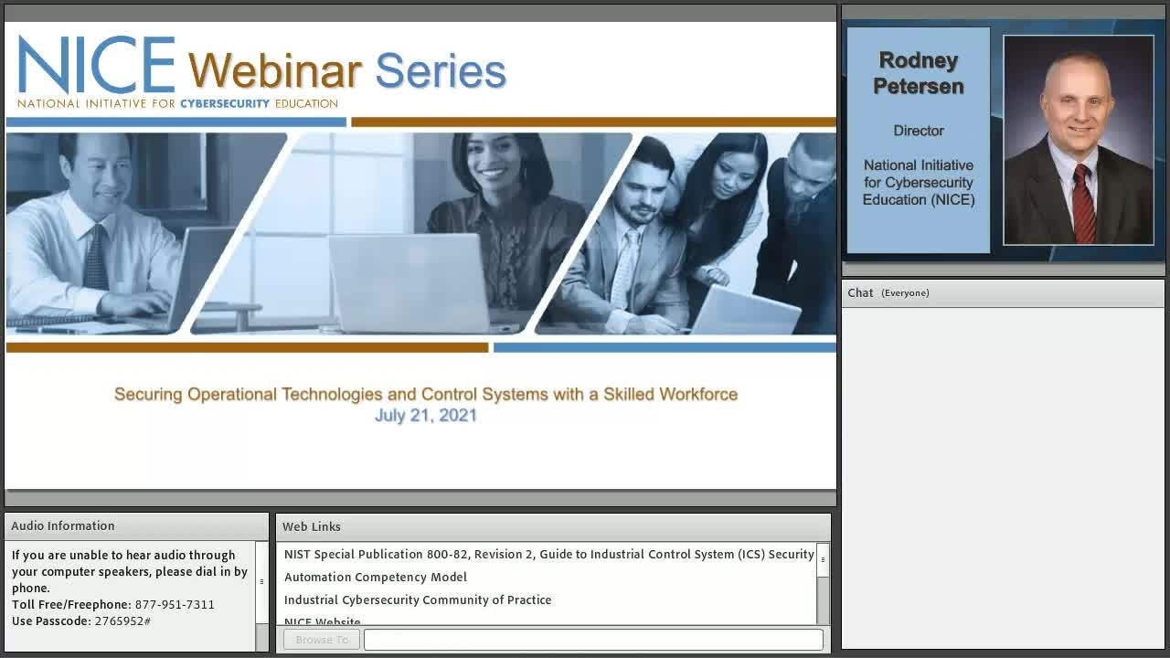 NICE Webinar: Securing Operational Technologies and Control Systems with a Skilled Workforce