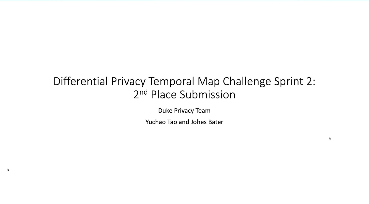 PSCR 2021_Differentially Private Synthetic Data Generation for Temporal Maps_Demo