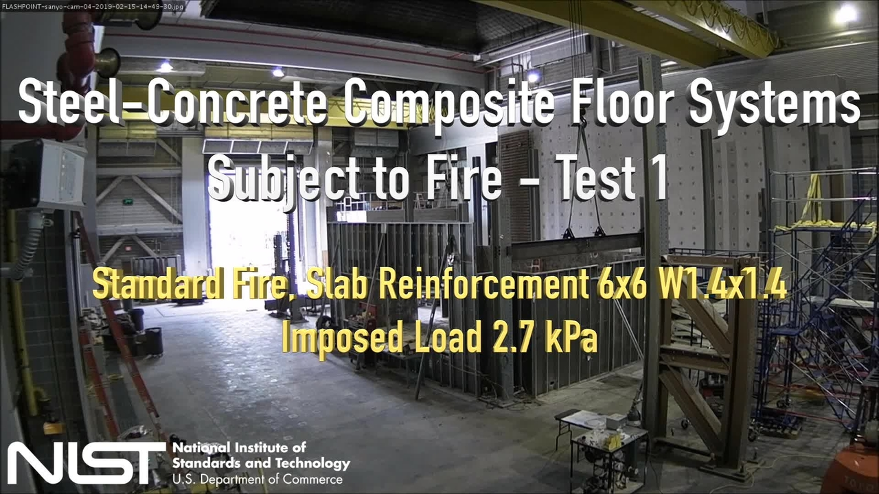 Fire Resilience of a Full-Scale Steel-Concrete Composite Floor System with 2-Hour Fire-Resistance Designed Using U.S. Prescriptive Approach - Experiment Overview