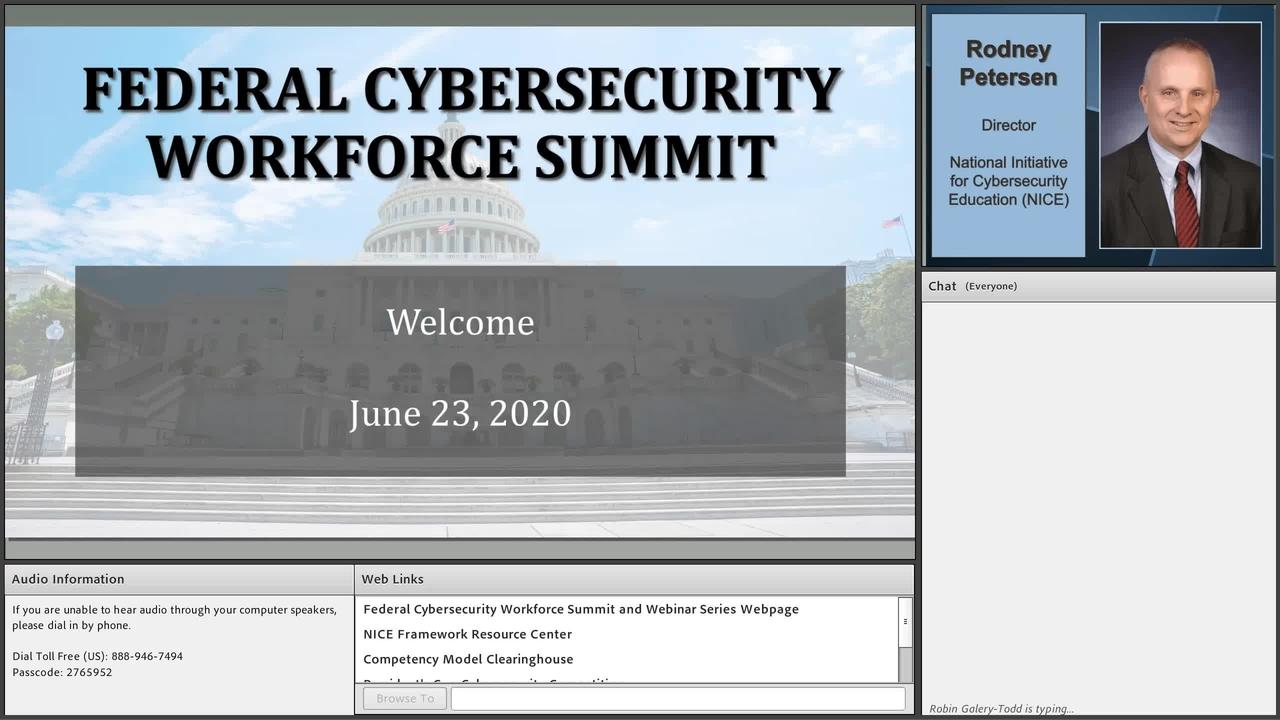 Federal Cybersecurity Workforce Summit 2020