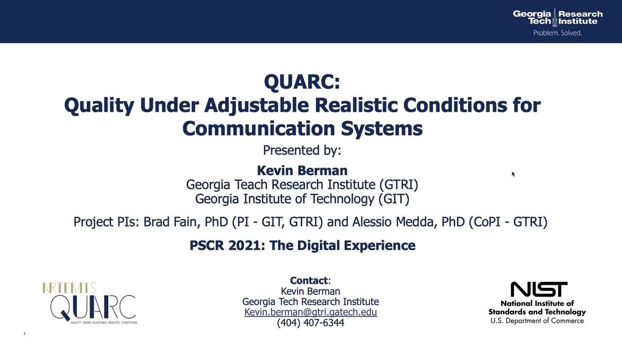 PSCR2021_QUARC_On-Demand
