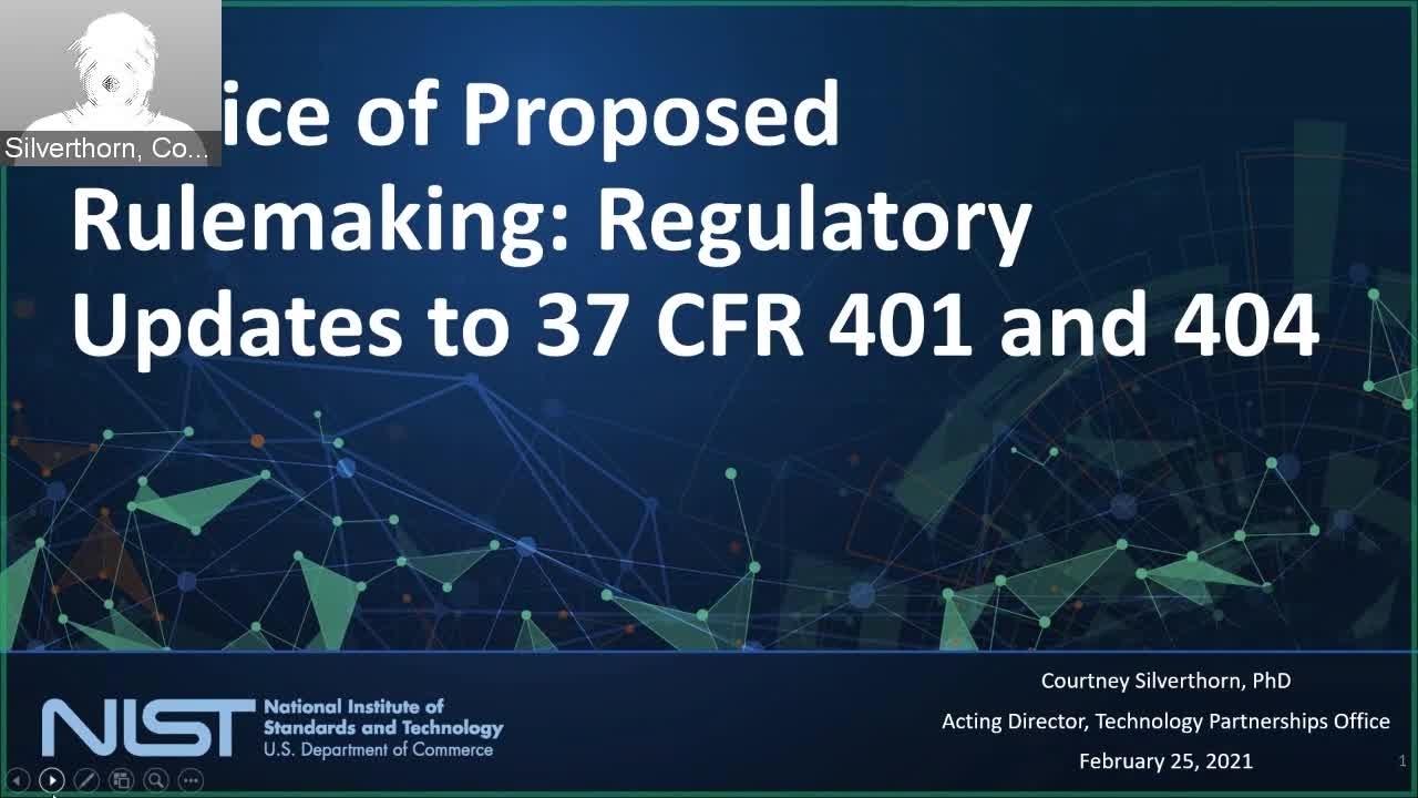 NIST Public Webinar - Bayh-Dole Notice of Proposed Rulemaking.mp4