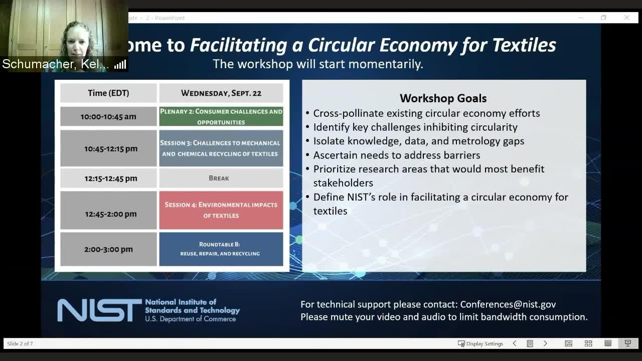 Facilitating a Circular Economy For Textiles  Day 2 Part 1