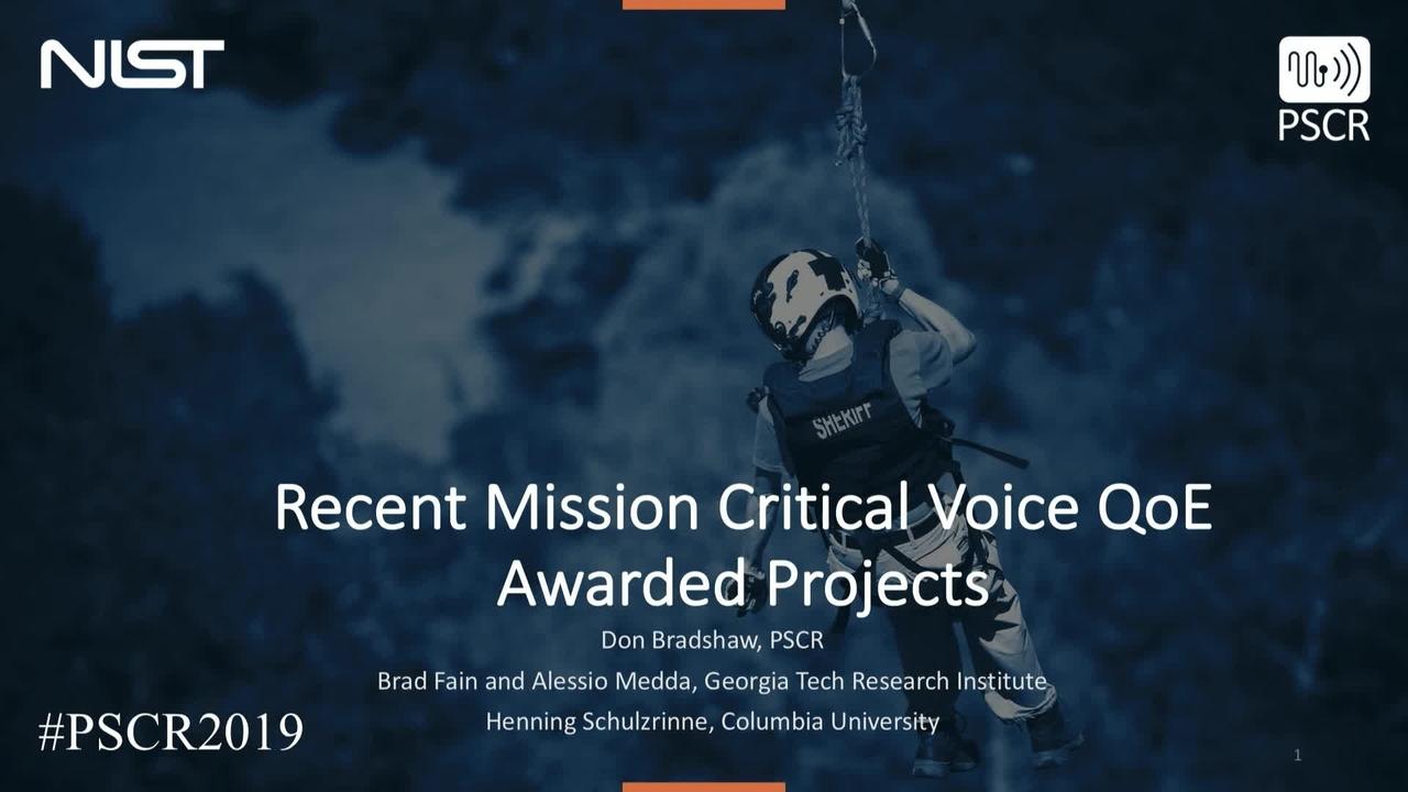 MCV QoE Award Recipients