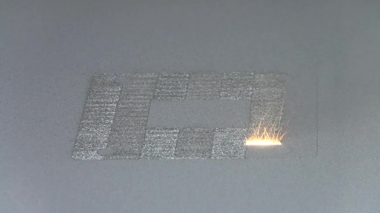 3D Printing with a Laser and Metal Powder