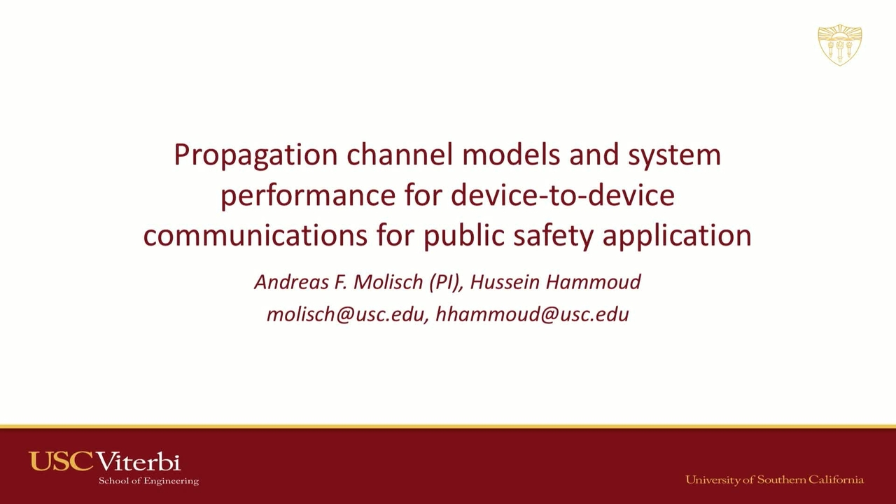Propagation Channel Models & System Performance