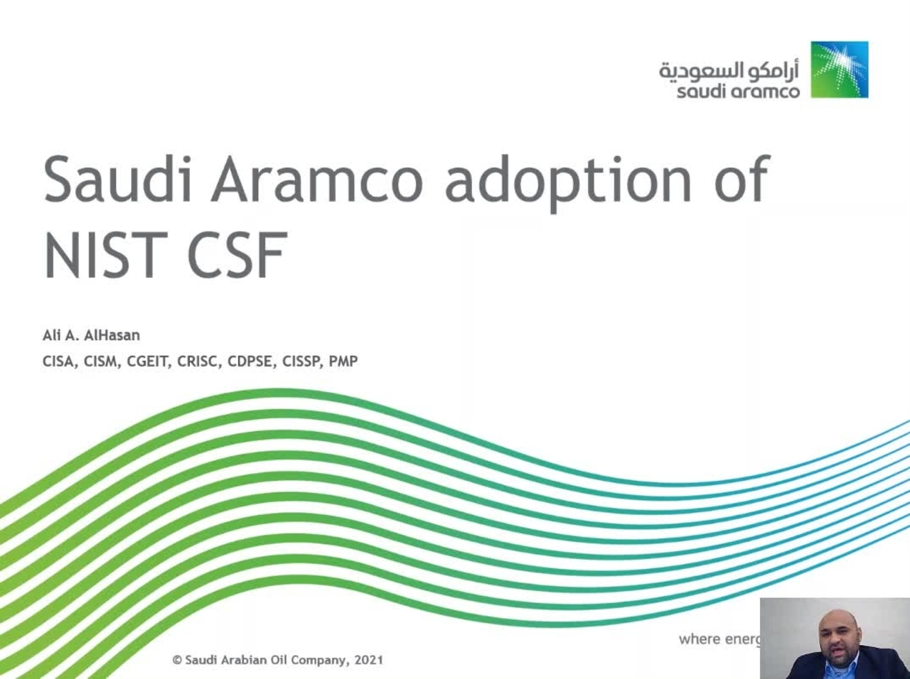 Talk: Cybersecurity Perspective from Saudi Aramco
