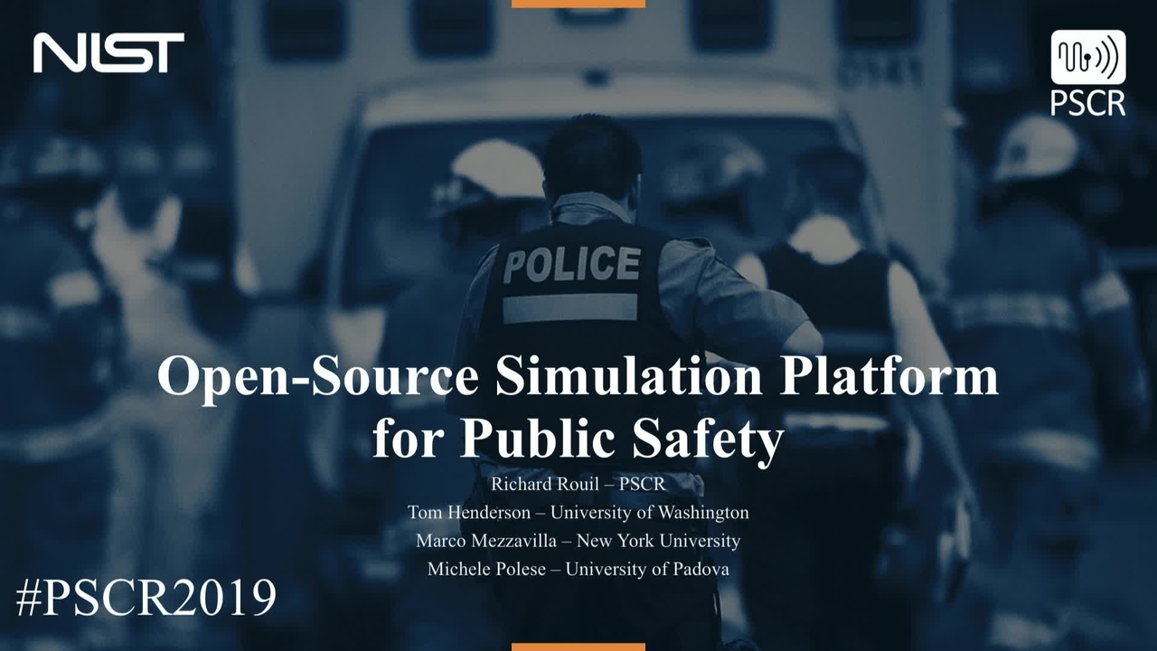 Open Source Simulation Platform for Public Safety