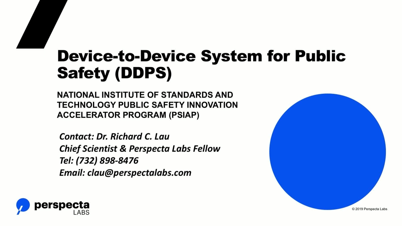 Device-to-Device System for Public Safety