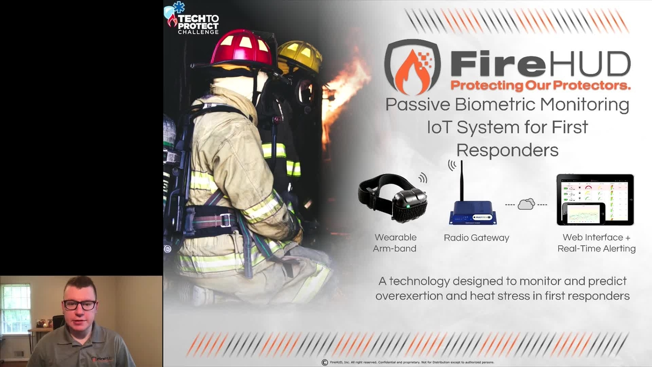 PSCR 2021_Passive Biometric Monitoring IoT System for First Responders_Demo