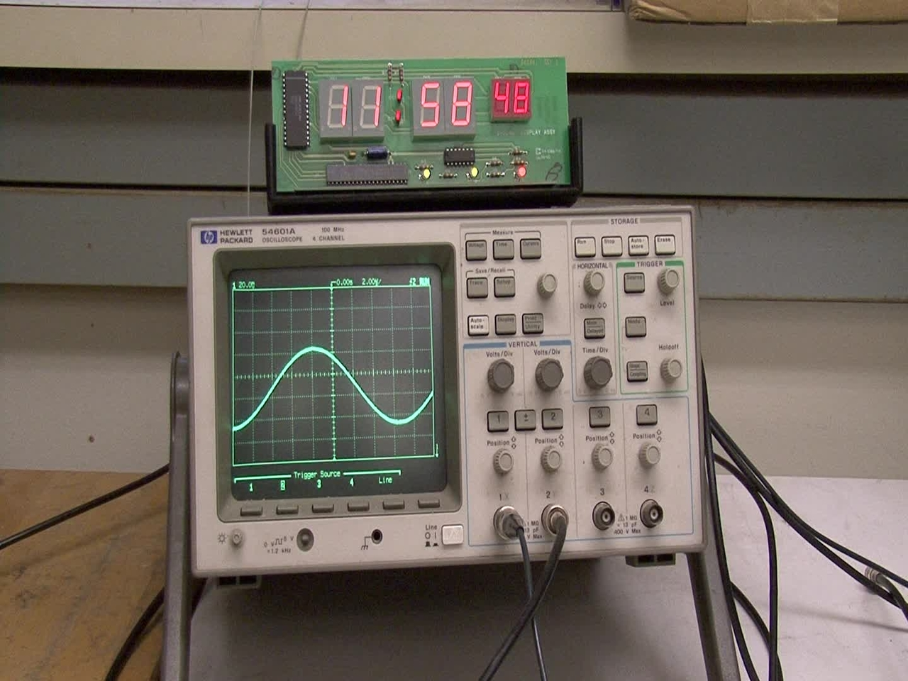 Phase modulation of NIST time signal