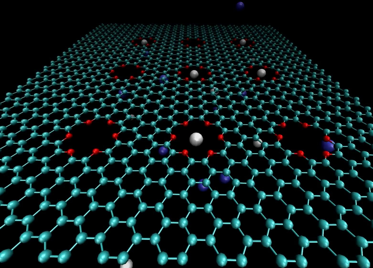 Simulation of ion trapping in graphene