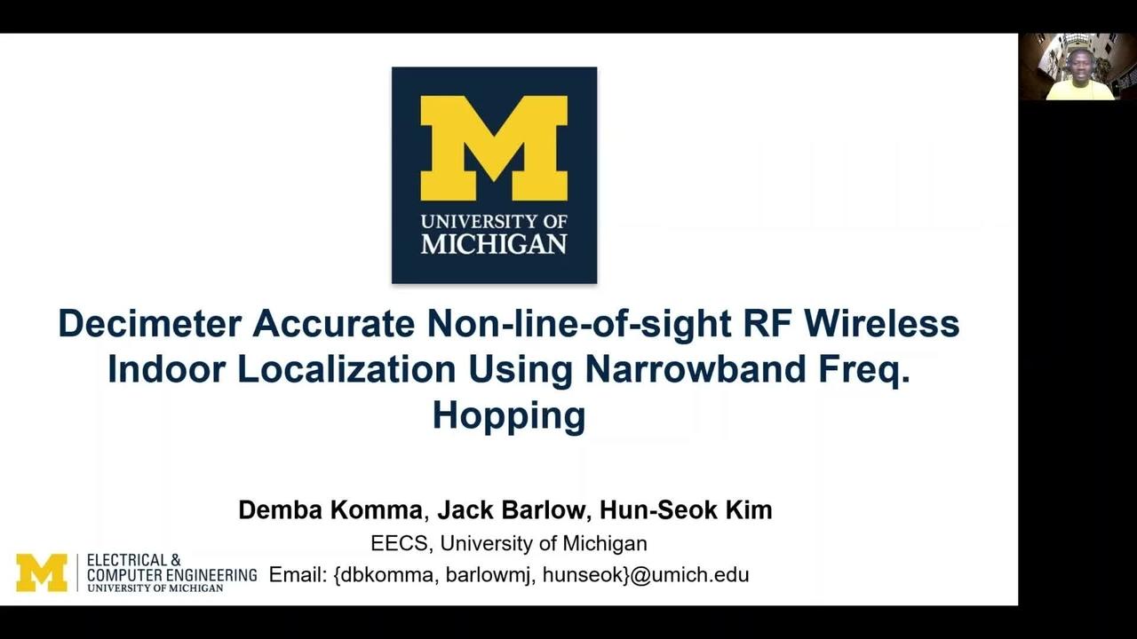 PSCR 2021_Decimeter Accurate Non-line-of-sight RF Wireless_Demo