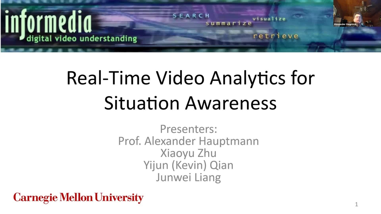 PSCR 2021_Real-Time Video Analytics_On-Demand