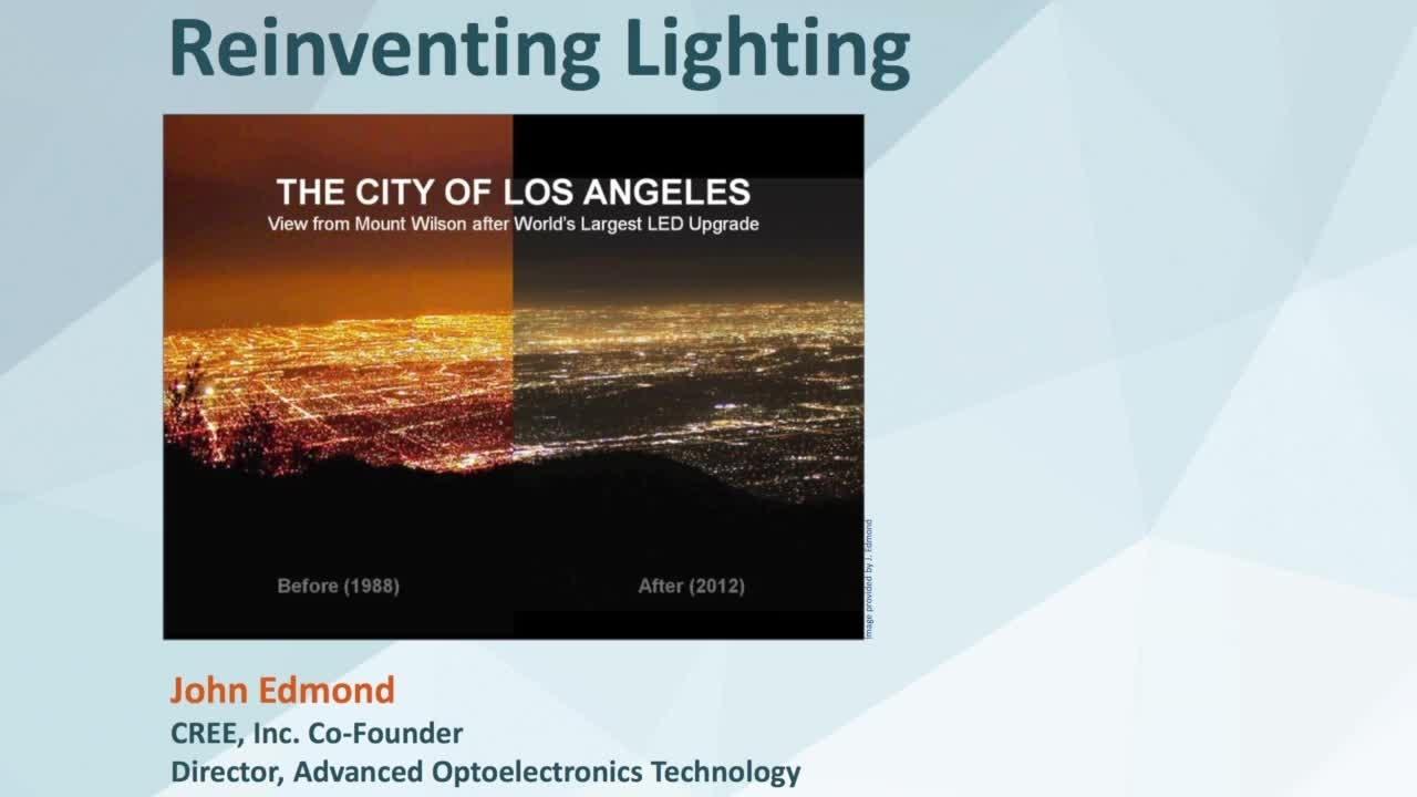 NIST Colloquium Series -  Reinventing Lighting - John Edmond