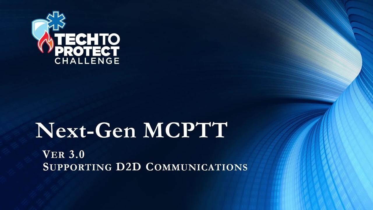 TTP Public Demo: NextGen MCPTT