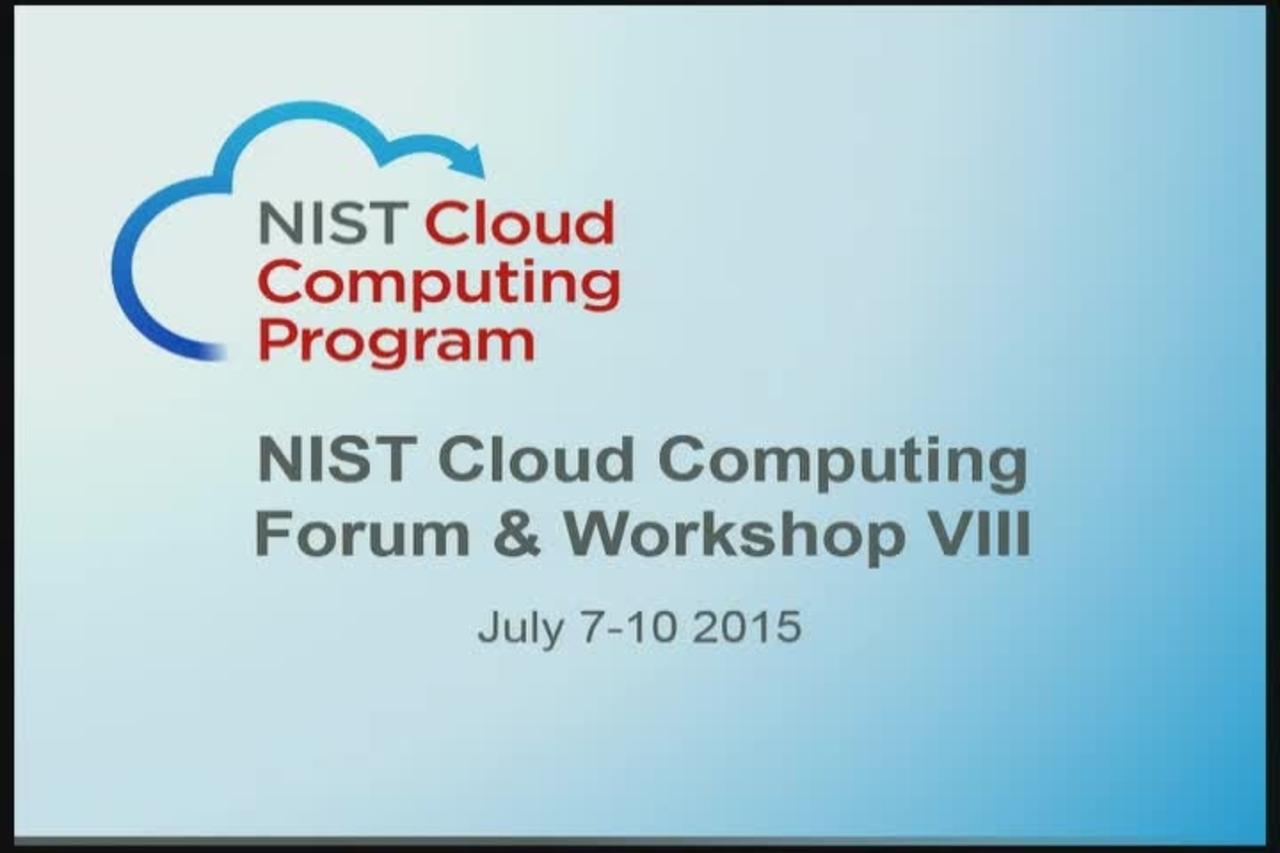 Day 2, Part 3. Cloud Computing VIII July 8