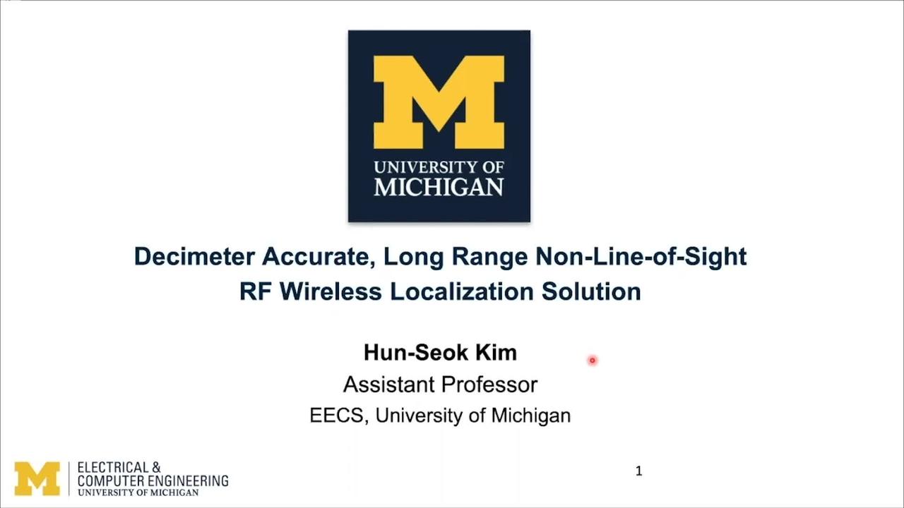PSCR 2021_Decimeter Accurate, LR Non-LoS, RF Wireless Localization_On-Demand