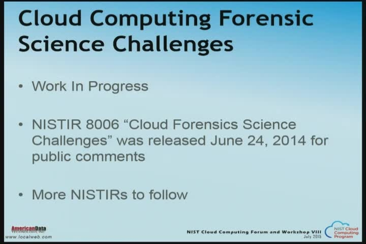 Day 3, Part 4. Cloud Computing VIII July 9