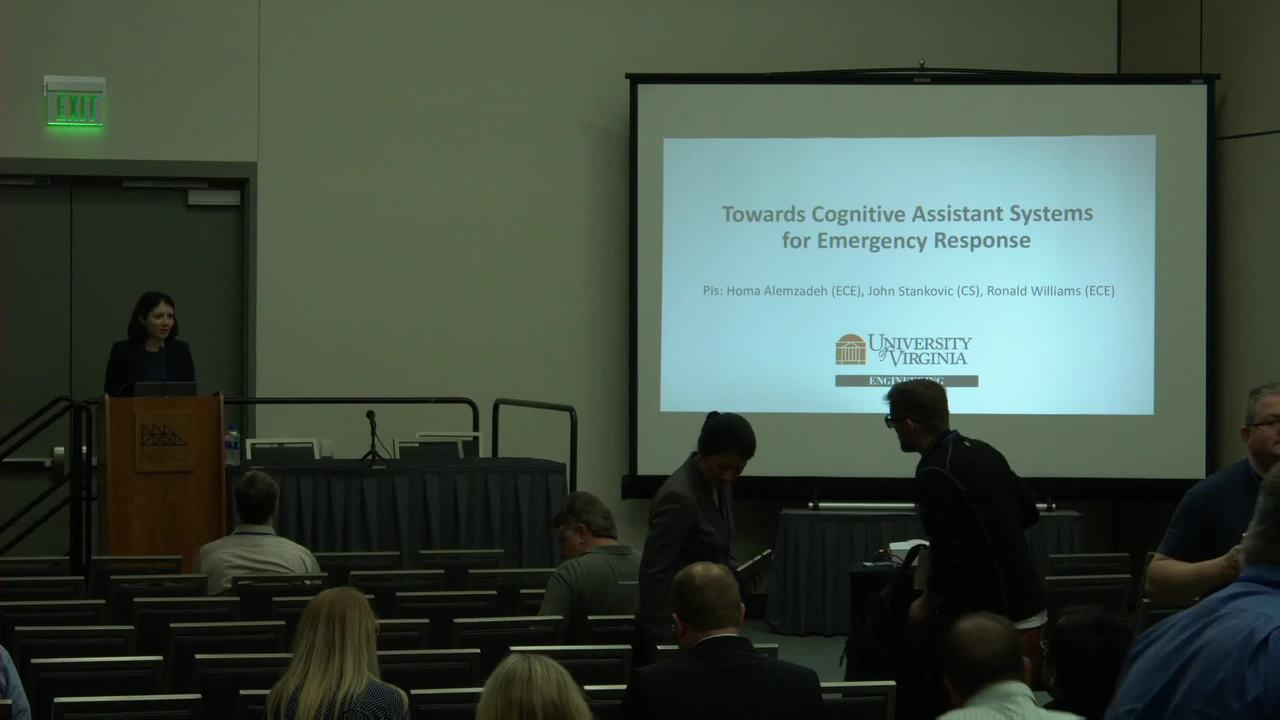 Cognitive Assistant Systems for Emergency Response