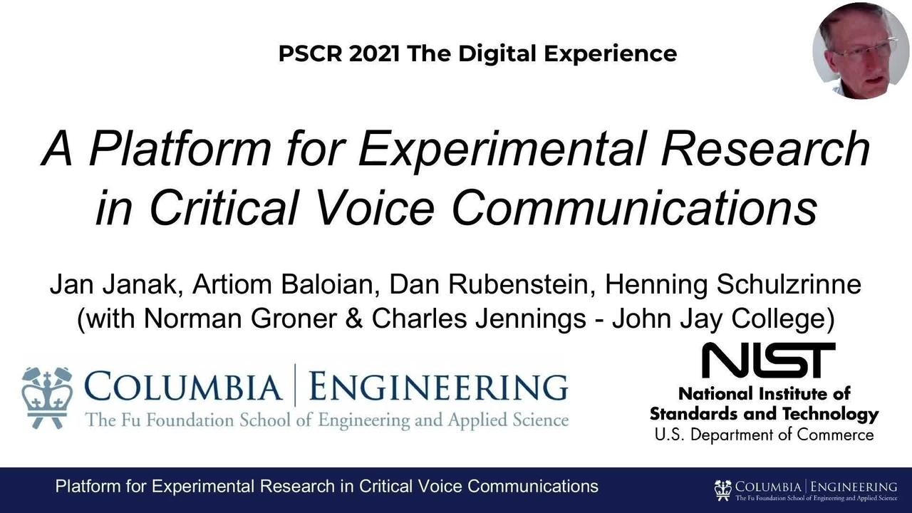 PSCR 2021_Platform for Experimental Research in Voice_On-Demand
