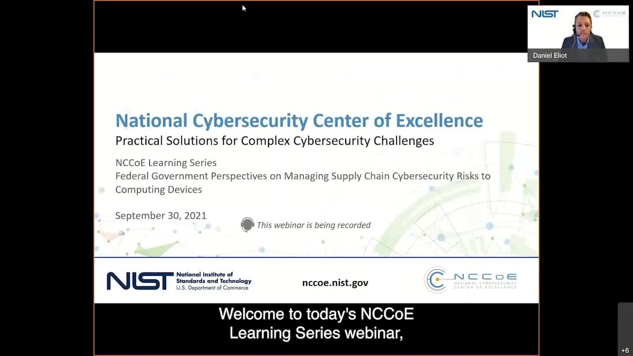 NCCoE Learning Series Fireside Chat: Federal Government Perspectives on Managing Supply Chain Cybersecurity Risks to Computing Devices