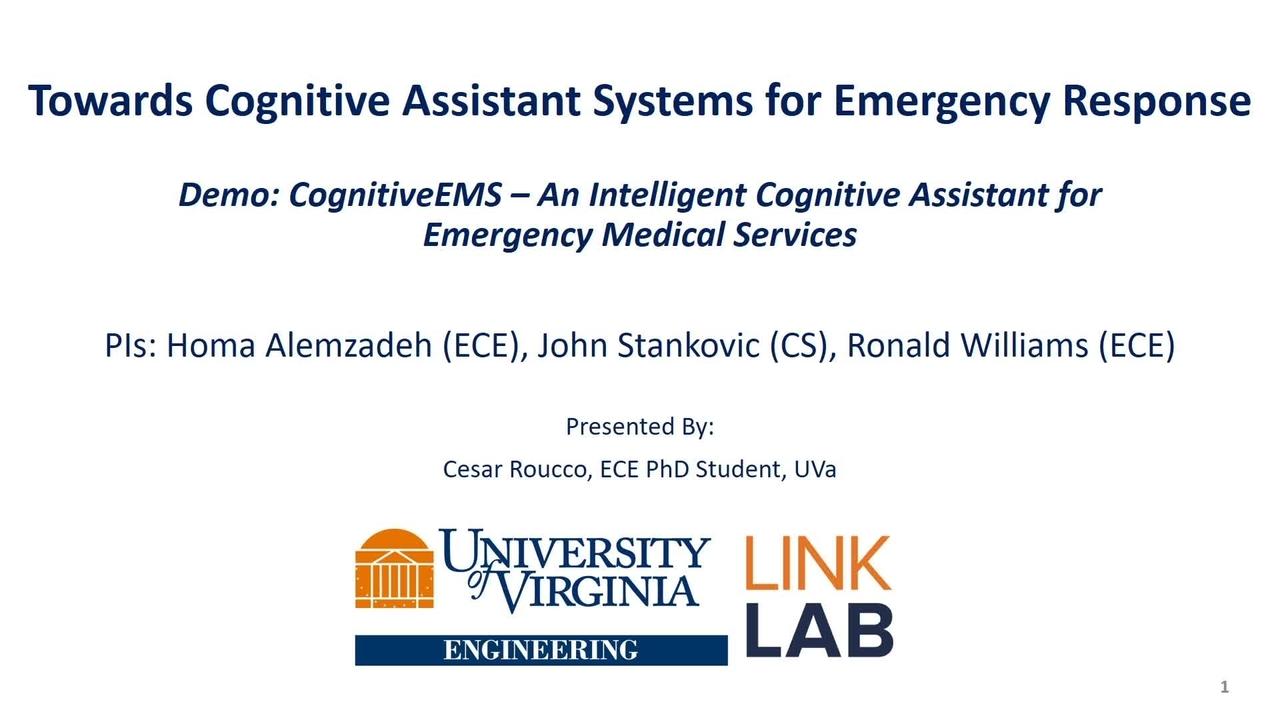 PSCR 2021_Cognitive EMS_Tech Demo