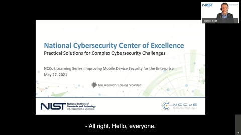 NCCoE Learning Series Fireside Chat: Improving Mobile Device Security for the Enterprise