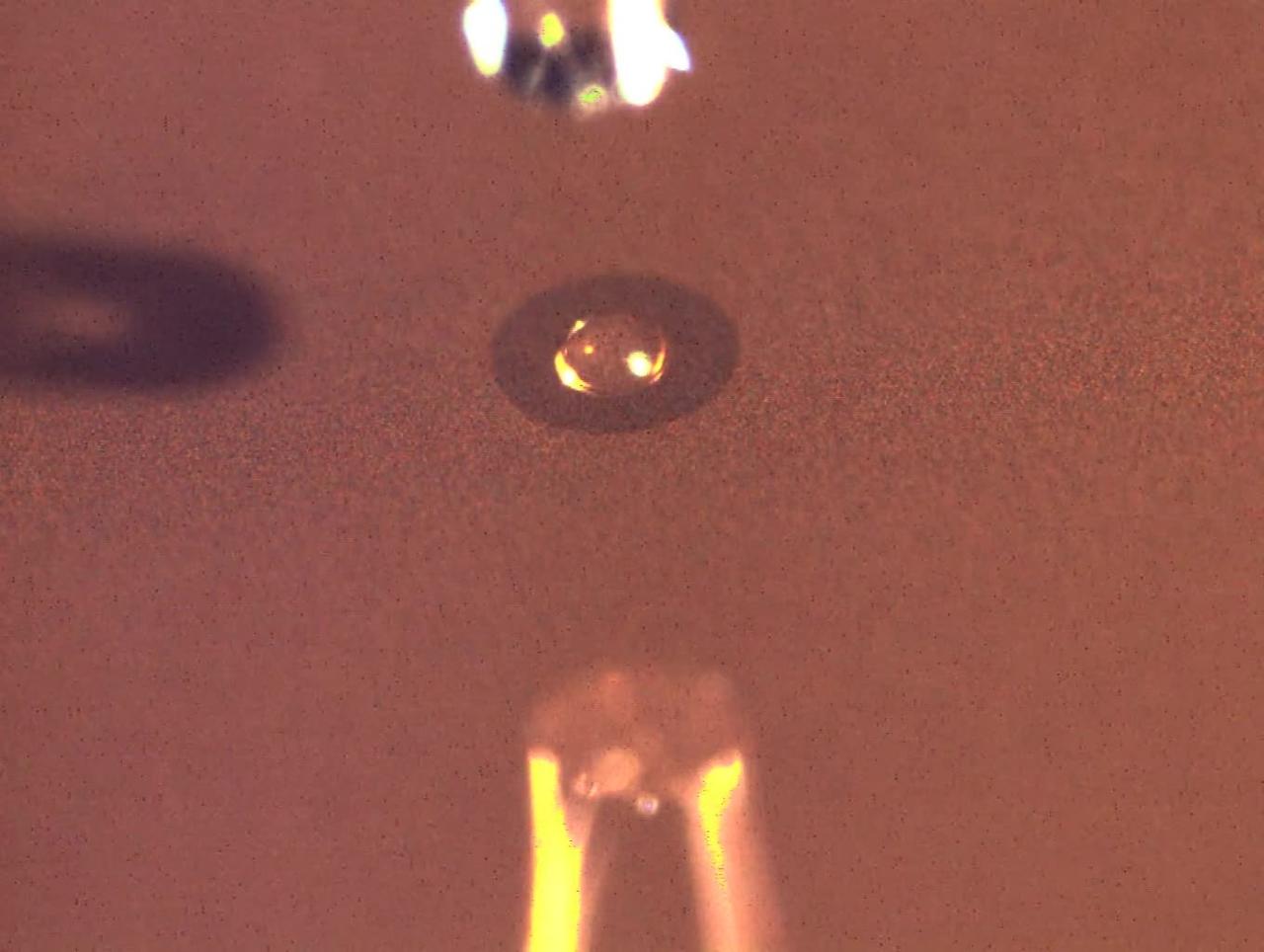 inkjet liquid deposit and drying on nanoporous gold