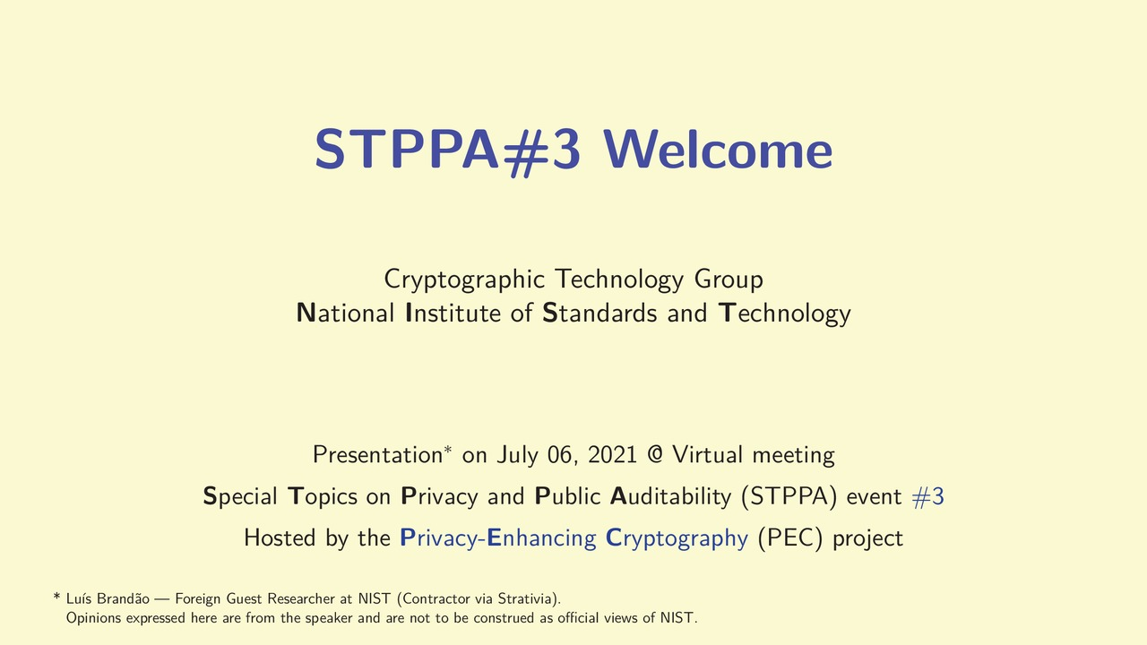 STPPA3 Welcome