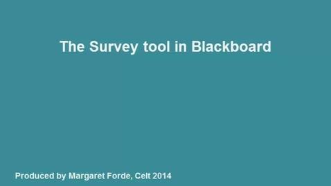 8.a Creating Surveys in Blackboard