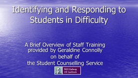 Thumbnail for entry Identifying and Responding to Students in Difficulty