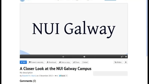 Thumbnail for entry Video Walk-through of the NUI Galway Prezi