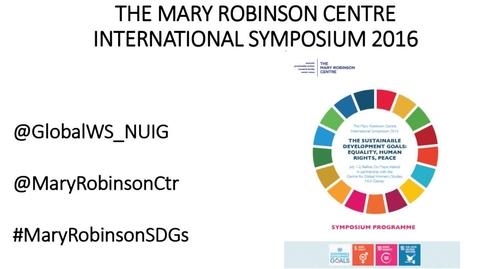 Mary Robinson Centre Symposium Plenary Session I