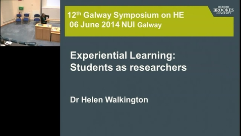 """Experimental Learning: Students as Researchers"""